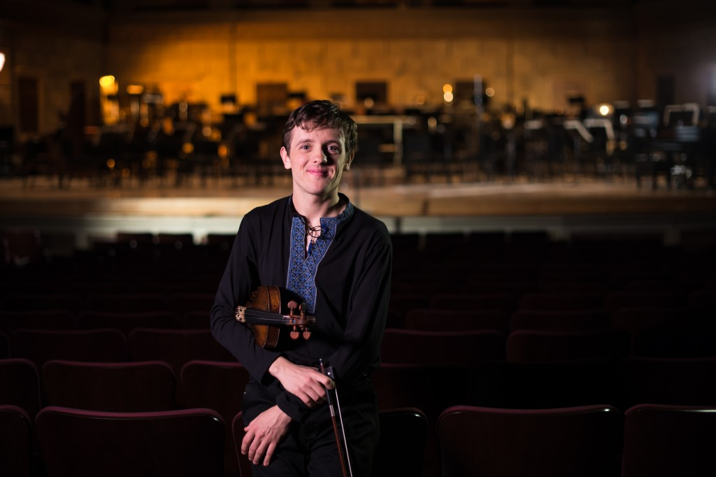 University of Rochester Eastman School of Music student Markiyan Melnychenko is pictured in Kodak Hall at Eastman Theatre February 6, 2014.  // photo by J. Adam Fenster / University of Rochester